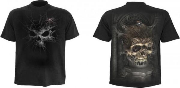 Webbed Skull T-Shirt schwarz