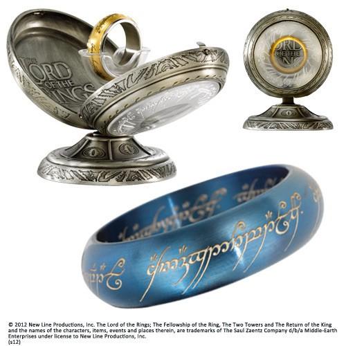HdR Edelstahl-Ring Der Eine Ring (Blau)