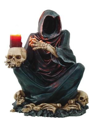 """Kerzenhalter """"Grim Reaper"""" auf Schädel"""