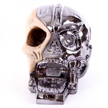 Roboter Totenkopf Spardose
