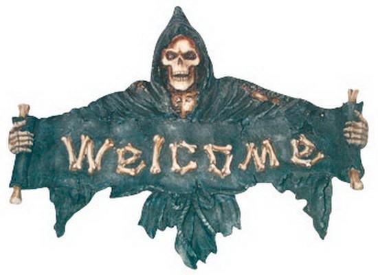 """Türschild Welcome """"Der Tod"""""""