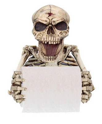Skelett Klopapierabroller