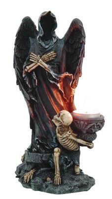 Engel der toten Seelen mit Skelett-teelichthalter