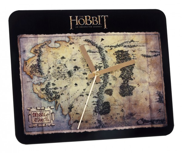 *Der Hobbit Glas Wanduhr The Treasure Map