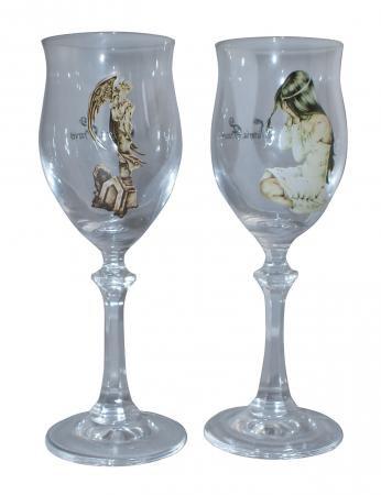 2er Set Weinglas Ilantos / Statue