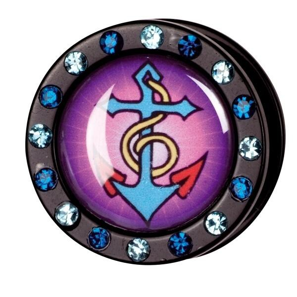 PMMA Funky Jewelled Tunnel ''Anchor'' 10,0mm