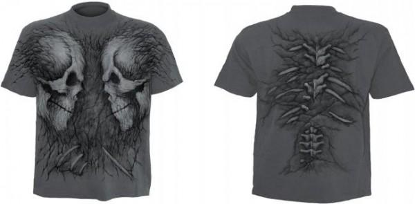 Fossil Skulls T-Shirt im Kohle-Look