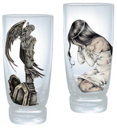 2er Set Wasserglas Ilantos / Statue