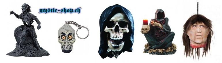 Schädel, Skelette und Schlüsselanhänger