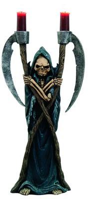 """*Kerzenhalter """"Sensen"""" mit Grim Reaper"""