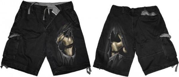 Bone Slasher Vintage Shorts Black