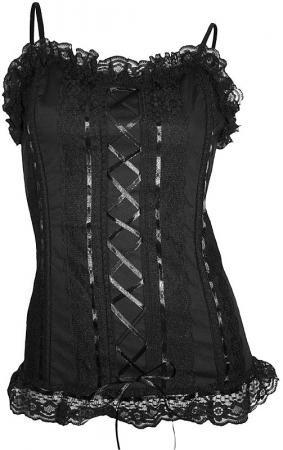 Girlie Gothic Corsage mit Schnürung, schwarz