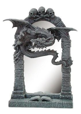 *Drachenspiegel mit 3 Schädeln