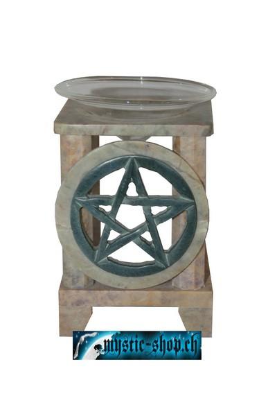 Duftlampe Pentagramm (Speckstein)