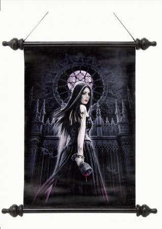 Schriftrolle Vampirin mit Blutkelch