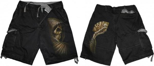 Dead Mans Hand Shorts im Antik-Look