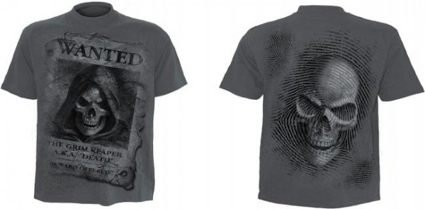 Wanted T-Shirt im Kohle-Look