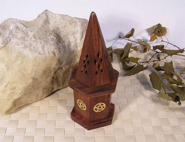 Kegelhut mit Voratsbox Pentagramm