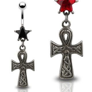 Gothic Celtic Navel Piercing Schwarz