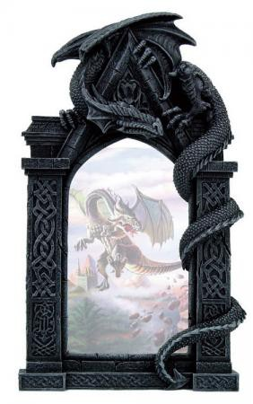 Bilderrahmen mit Drachen rechts