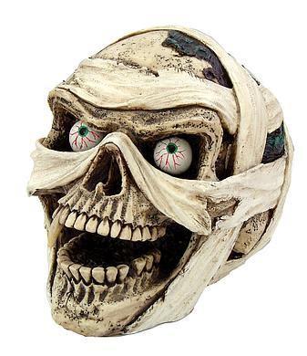Lachender Mumienschädel