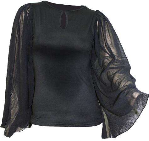 Unbedrucktes Girlie Shirt mit Fledermausärmeln