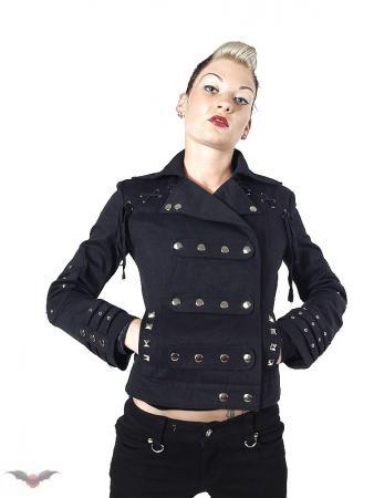 Geschnürte Jacke mit vielen Knopfnieten