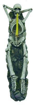 Räucherstäbchenhalter liegendes Skelett