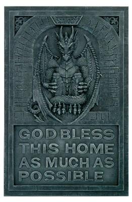 """Wandbild Drachen"""" God bless this home"""""""