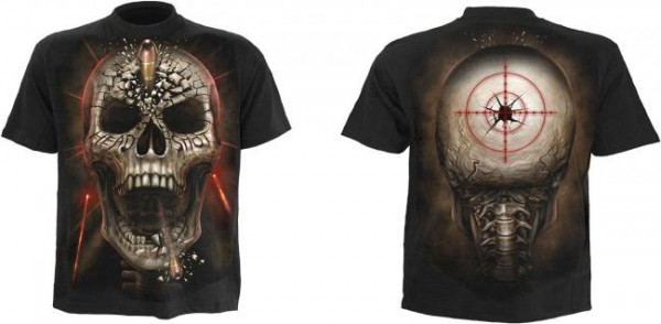 Head Shot T-Shirt schwarz