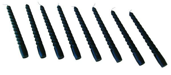 8 Stück Spritzkerzen schwarz