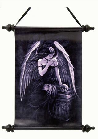 Schriftrolle Engel am Grab