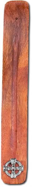 Holz - Räucherstäbchenhalter Keltisches Kreuz
