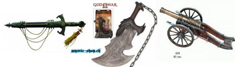 Dolche, Schwerter, Kanonen und Wandhalter
