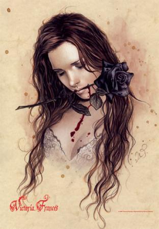 Victoria Francés Textil-Poster Rosa Negra